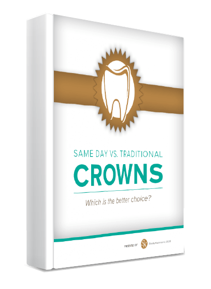 Same Day Vs. Traditional Crowns eBook Cover Image - a service offered by this dentist in McLean VA