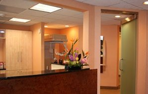The front office of Dr. Kazerooni's dental practice in McLean, VA