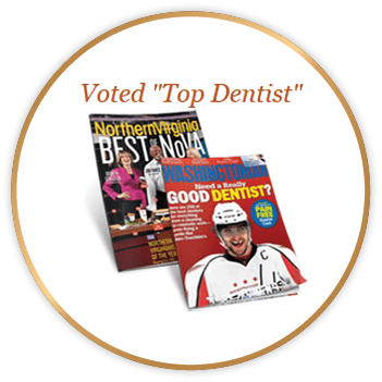 Voted top dentist in McLean magazine covers