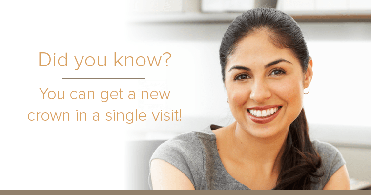 Get a same-day dental crown with CEREC technology with Dr. Kazerooni