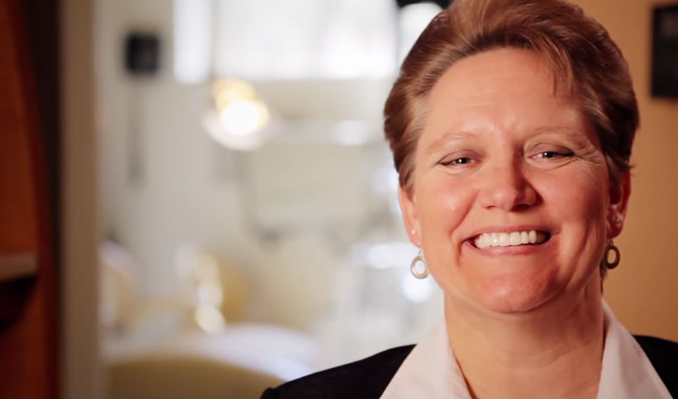 Video of Dr. Kazerooni's patient discussing her new smile in McLean, VA