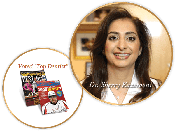 "Profile photo of Dr. Sherry Kazerooni a leading dentist McLean VA with ""Top Dentists"" awards"