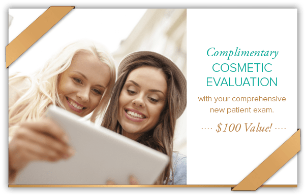 Coupon for complimentary cosmetic evaluation.